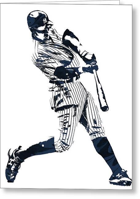 Aaron Judge New York Yankees Pixel Art 1 Greeting Card