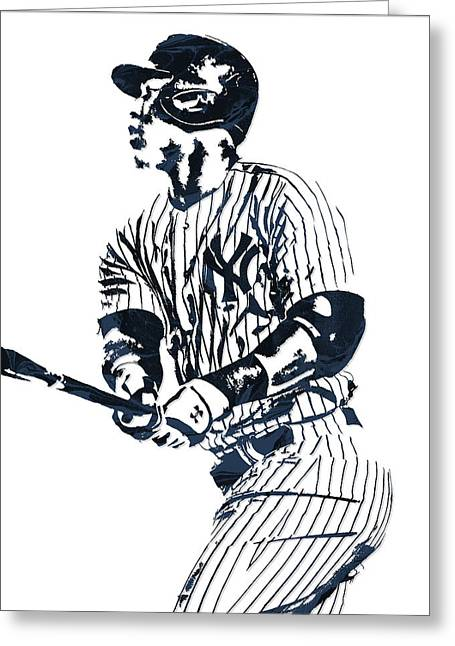 Aaron Judge New York Yankees Pixel Art 11 Greeting Card