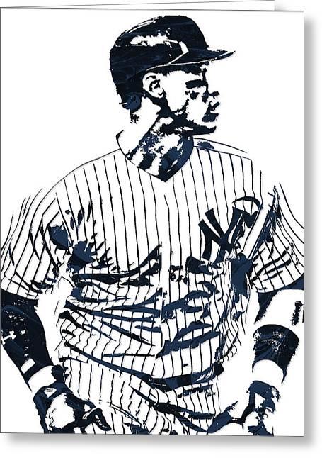 Aaron Judge New York Yankees Pixel Art 2 Greeting Card