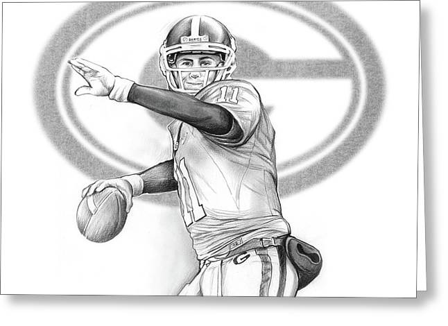Aaron Murray Greeting Card by Greg Joens