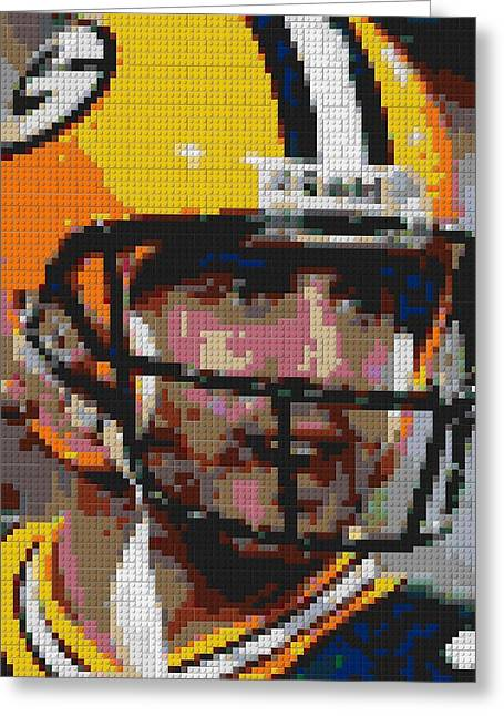 Aaron Rodgers Lego Mosaic Greeting Card