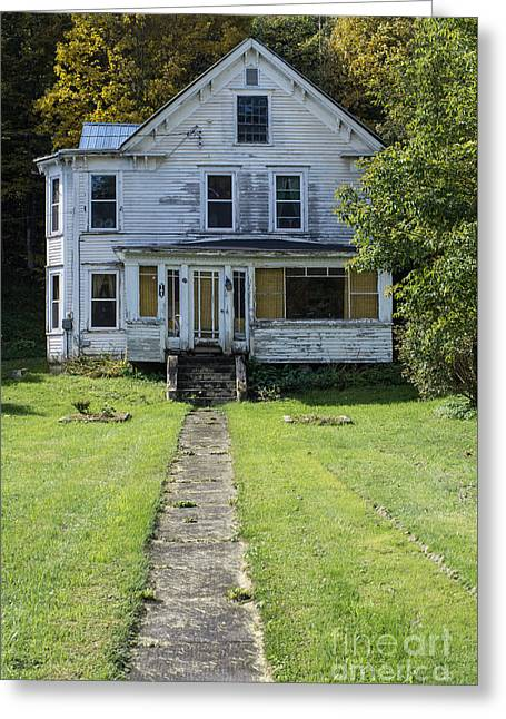 Abandoned Home, Lyndon, Vt. Greeting Card