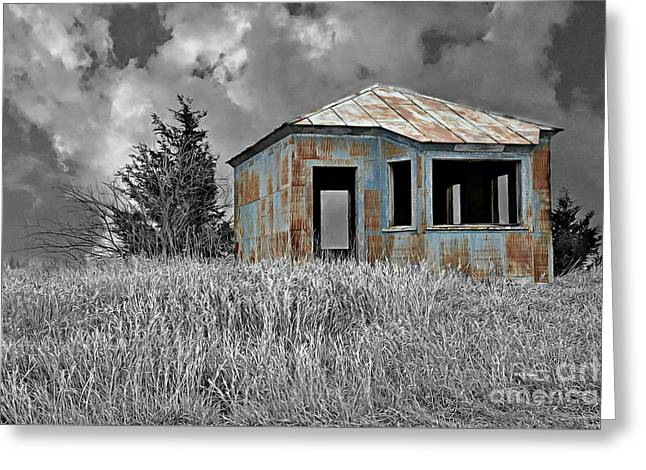 Abandon Railroad Shack Greeting Card