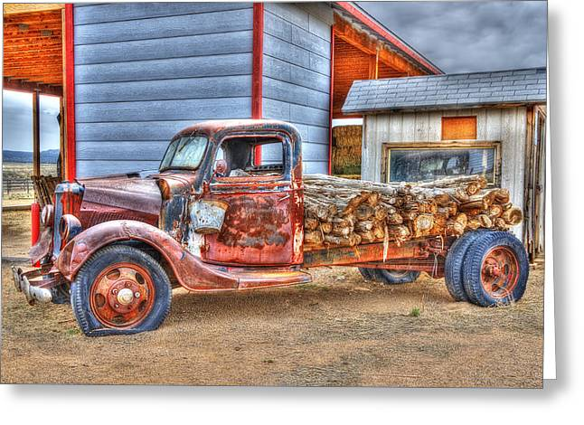 Abandon Truck On Route 66 Greeting Card