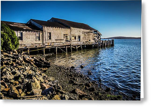 Abandonded Fishing Wharf Greeting Card by Garry Gay