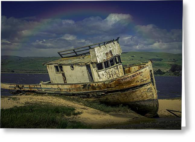 Abandonded Old Boat Greeting Card by Garry Gay