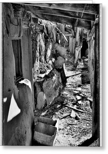 Abandoned Adobe II Greeting Card by David Patterson