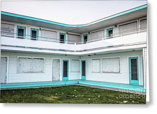 Abandoned Beach Motel Greeting Card by Edward Fielding