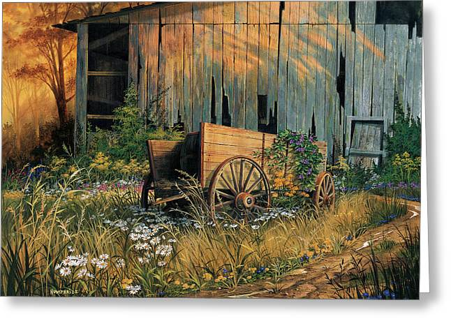 Abandoned Beauty Greeting Card by Michael Humphries