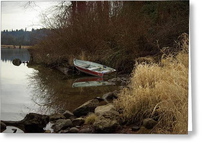 Abandoned Boat II Greeting Card