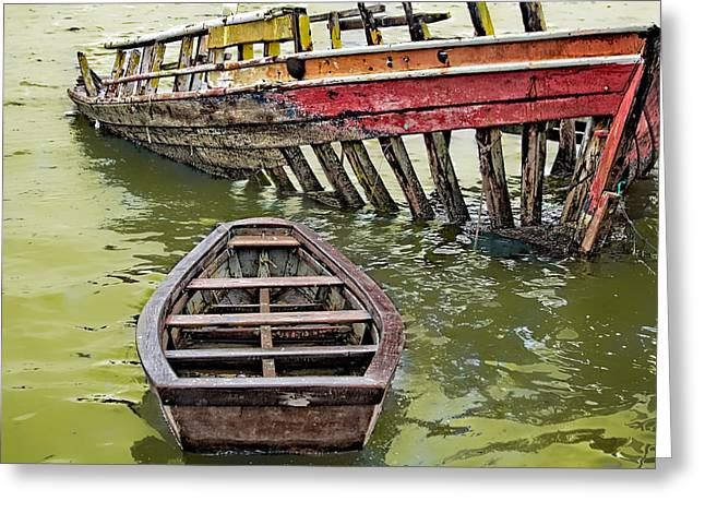 Greeting Card featuring the photograph Abandoned Boat by Kim Wilson