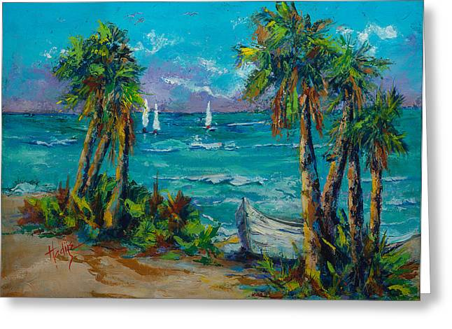 Abandoned Boat Greeting Card by Mary DuCharme