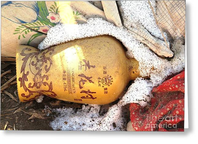 Greeting Card featuring the photograph Abandoned Bottle by Ethna Gillespie
