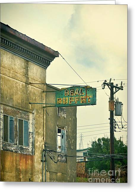 Greeting Card featuring the photograph Abandoned Building by Jill Battaglia