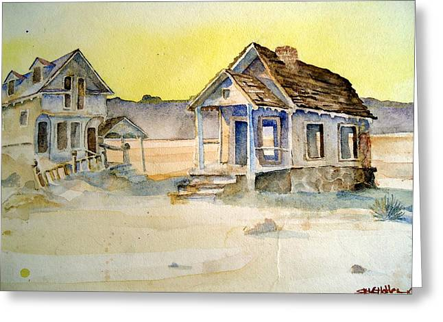 Abandoned Buildings Greeting Card by Steven Holder