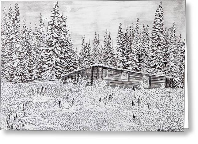Abandoned Cabin Greeting Card