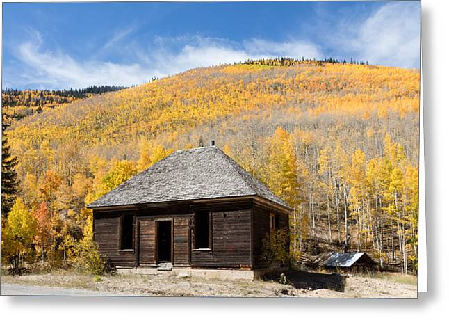Greeting Card featuring the photograph Abandoned Cabin Near The Old Mining Town Of Ironton by Carol M Highsmith
