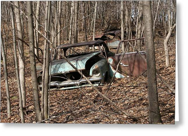 Abandoned Car 2 Greeting Card