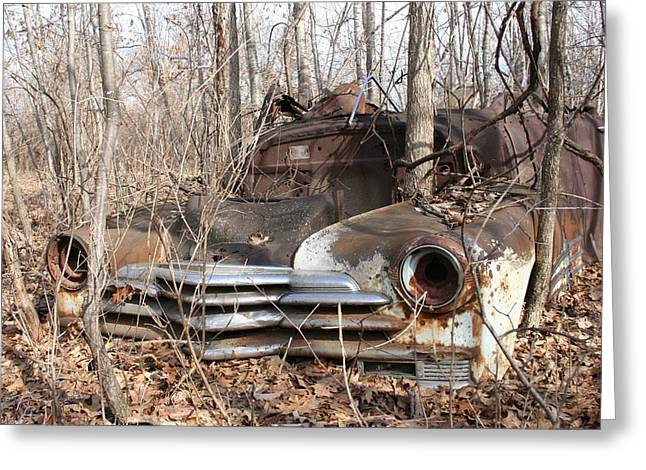 Abandoned Car 5 Greeting Card