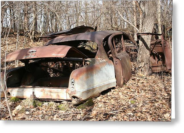 Abandoned Car 7 Greeting Card