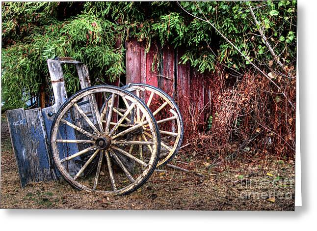 Greeting Card featuring the photograph Abandoned Cart by Jim and Emily Bush