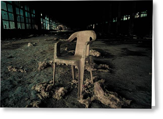 Abandoned Chair Greeting Card by Luka Matijevec