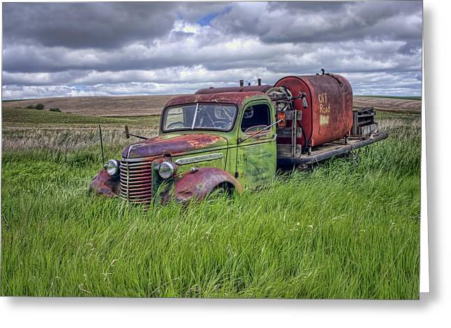 Abandoned Chevy Truck - Rusty Vehicles Greeting Card by Nikolyn McDonald