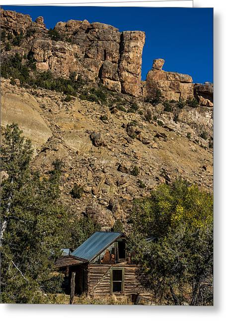 Abandoned Colorado Log Cabin Greeting Card