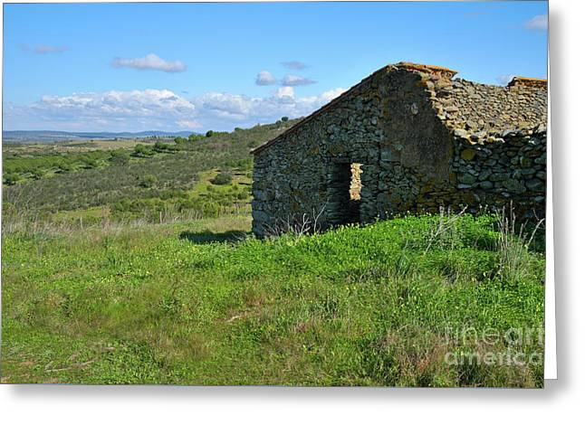 Abandoned Cottage In Alentejo Greeting Card by Angelo DeVal