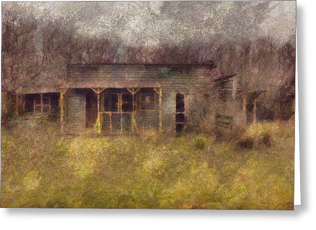 Abandoned Country Home Greeting Card by Mario Carini