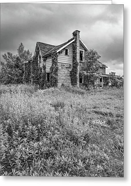 Abandoned Dreams Bw Greeting Card