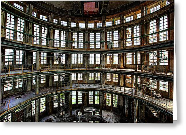 Abandoned Factory Hall - Industrial Decay Greeting Card by Dirk Ercken