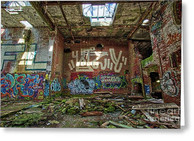Abandoned Factory Newport New Hampshire Greeting Card