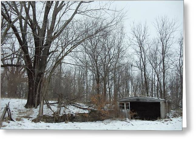 Abandoned Farm Greeting Card by David Junod