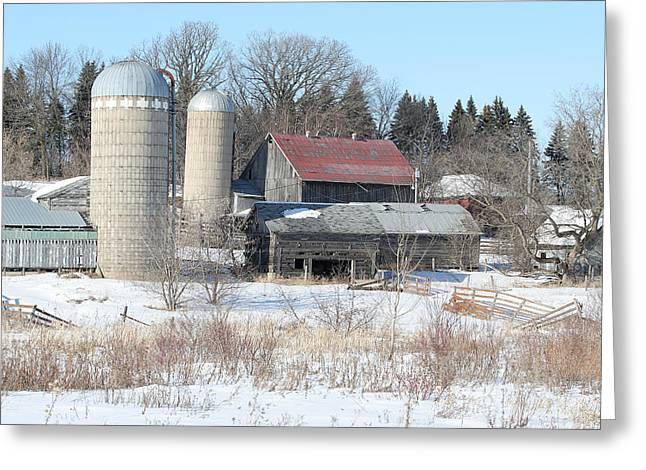Abandoned Farm In Central Minnesota Greeting Card by Laurie With