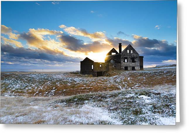 Abandoned Farm On The Snaefellsnes Peninsula Greeting Card
