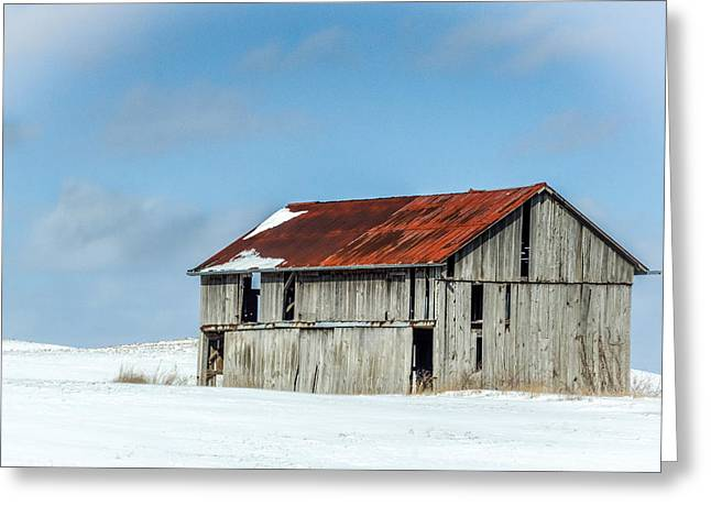 Abandoned Farm Site Greeting Card