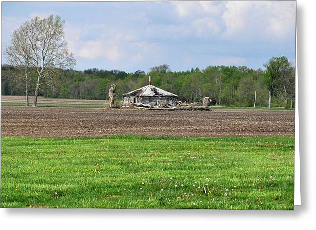 Greeting Card featuring the photograph Abandoned Farmhouse by John Black