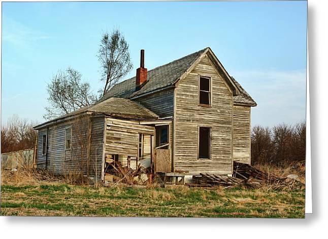 Abandoned Farmhouse Greeting Card by Nikolyn McDonald
