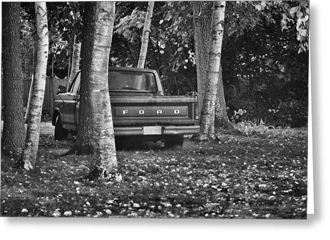 Abandoned Ford Truck Greeting Card by Kate Hannon