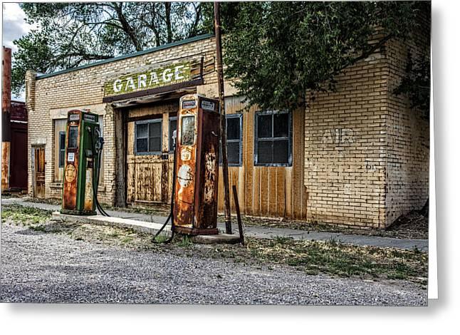 Abandoned Garage Greeting Card