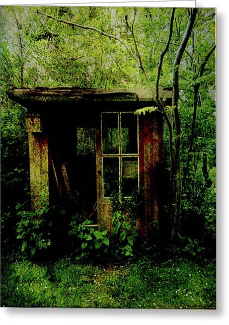 Abandoned Hideaway Greeting Card by Sarah Vernon