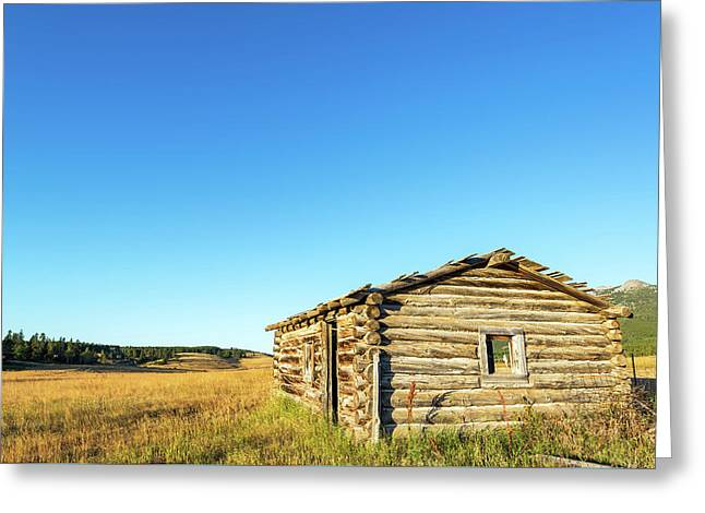 Abandoned Homestead Cabin Greeting Card by Jess Kraft