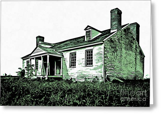 Abandoned Homestead Greeting Card by Edward Fielding
