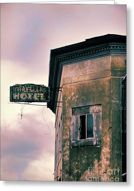 Abandoned Hotel Greeting Card by Jill Battaglia