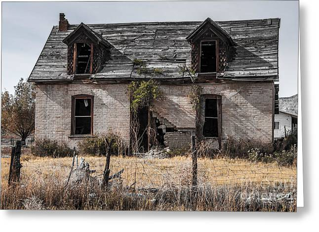 Abandoned House In Central Utah Greeting Card by Gary Whitton