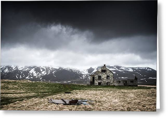 Abandoned House In Iceland Greeting Card
