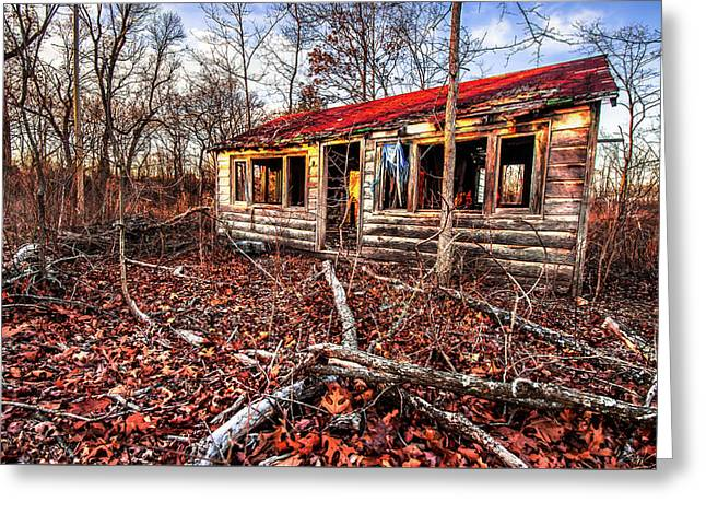 Abandoned House In The Middle Of Nowhere Greeting Card