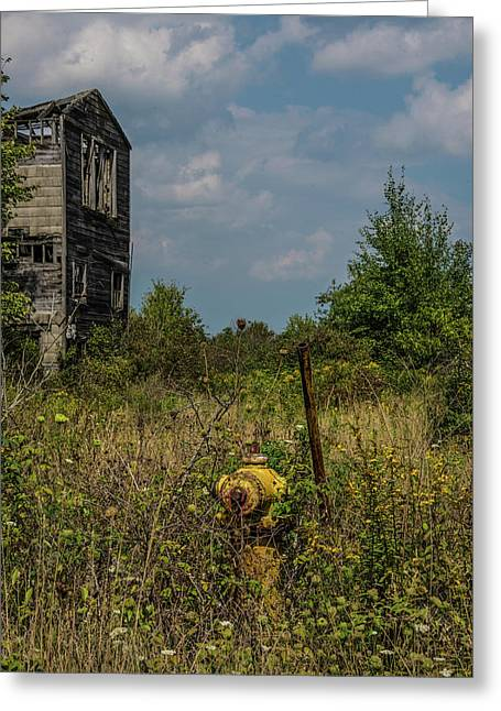 Abandoned Hydrant Greeting Card