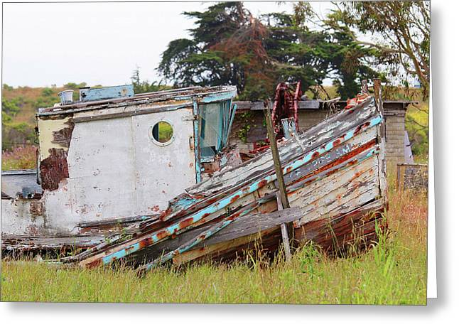Abandoned In Moss Landing Greeting Card